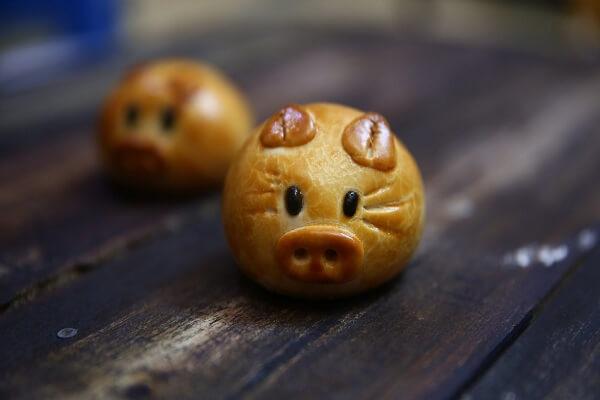 Cách Làm Bánh Trung Thu Không Cần Khuôn Hình Con Heo (Lợn)