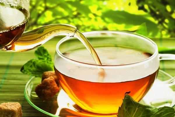 Pha trà với khoảng 2 lít nước sôi