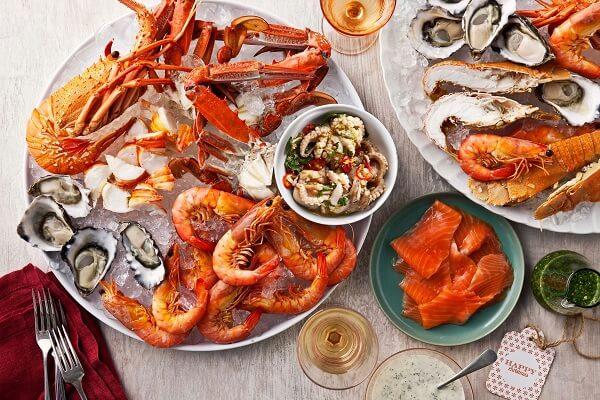 Hải sản - Vitamin a có trong thực phẩm nào?