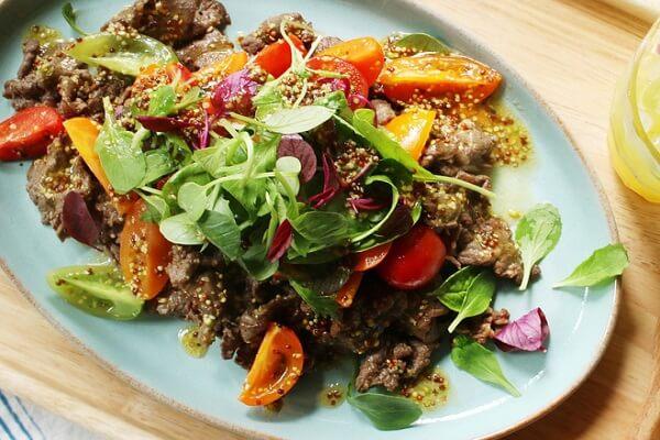 Salad thịt bò hấp dẫn