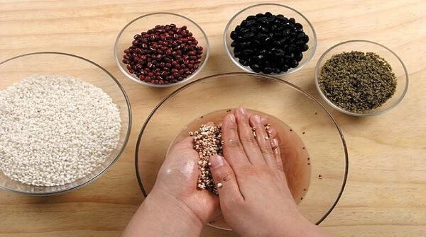 Vo sạch gạo tẻ, gạo nếp, ngô và kê