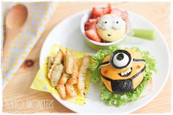 Các mẫu cơm hộp bento hình pokemon, monster đơn giản