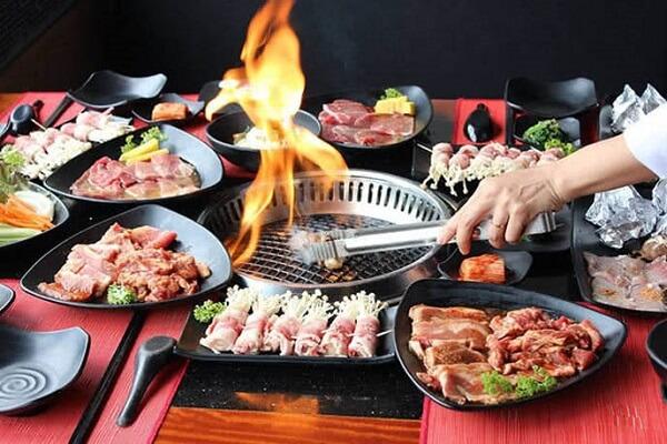 Bếp nướng không khói hiện đại tại nhà hàng