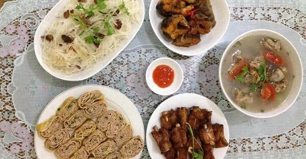 Danh sách các món ăn gia đình hàng ngày