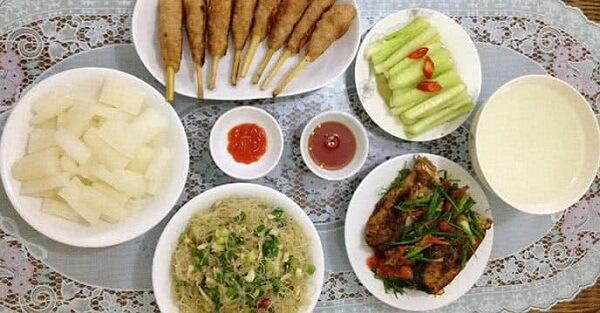 Các món ăn hằng ngày cho gia đình