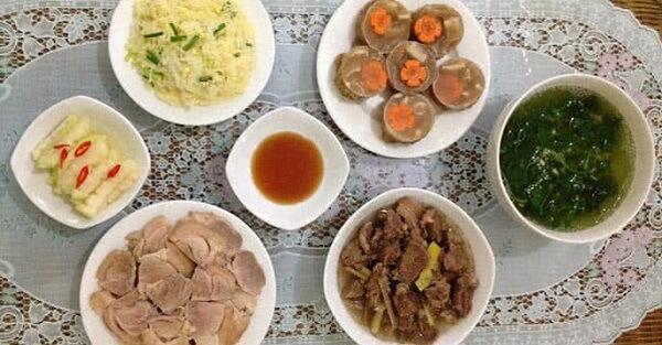 Danh sách món ăn hàng ngày cho gia đình