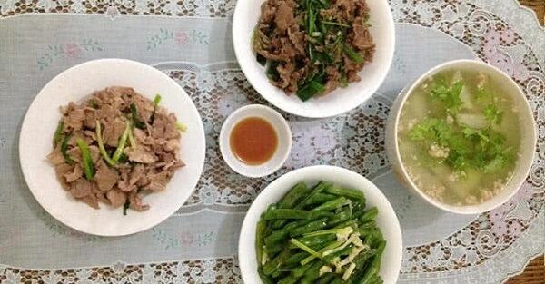 Nấu bữa ăn dinh dưỡng cho gia đình trong tuần