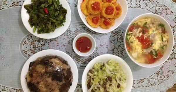 Thực đơn món ăn hàng ngày đầy đủ dinh dưỡng