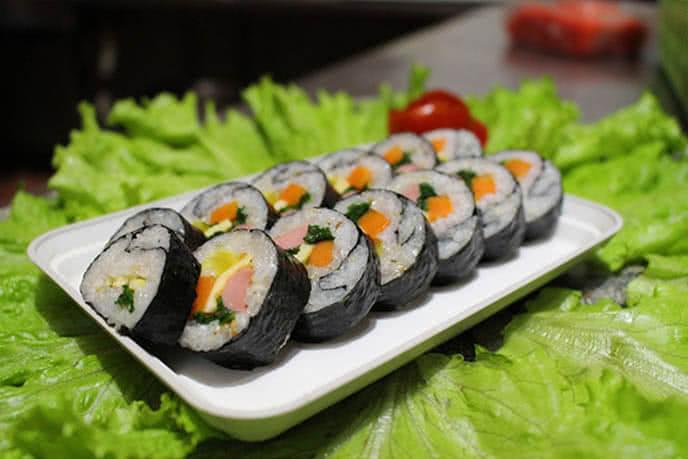 Gimbab đặc trưng của xứ Hàn