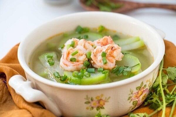Các món ăn ngon dễ làm thường ngày – Canh bí tôm tươi