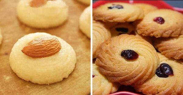 Món bánh quy với các loại nhân khác nhau