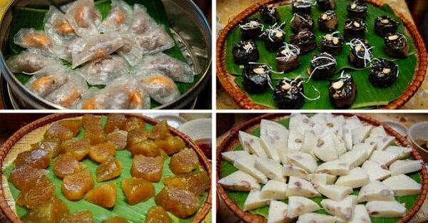 Các loại bánh gắn với ấu thơ ở Chợ Quà Quê