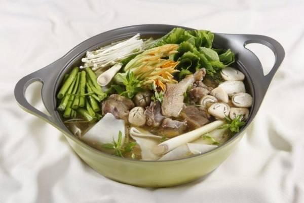 Cách nấu lẩu vịt hầm sả