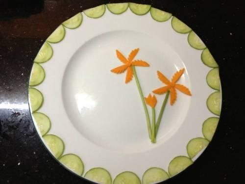 Cách tỉa rau củ trang trí món ăn