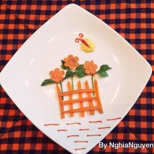 Cách tỉa hoa trang trí món ăn