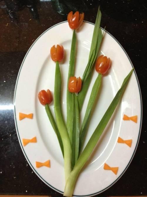 Cách trang trí đĩa thức ăn đơn giản