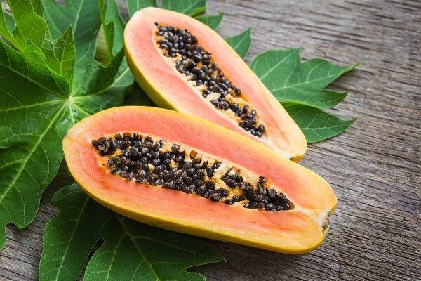 Trong đu đủ lượng beta caroten nhiều hơn trong các rau quả khác