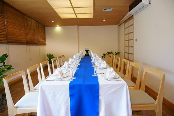 Phòng VIP được thiết kế thanh nhã, vẻ đẹp đến từ sự tối giản đầy tinh tế