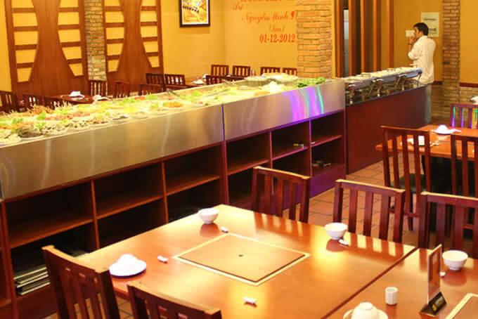 Khu vực phòng máy lạnh tiện nghi tại BBQ House Cao Thắng