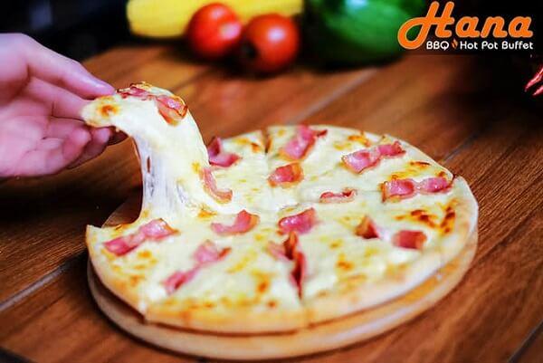 Hana BBQ còn đem tới bạn những món ăn châu Âu như pizza, mỳ Ý