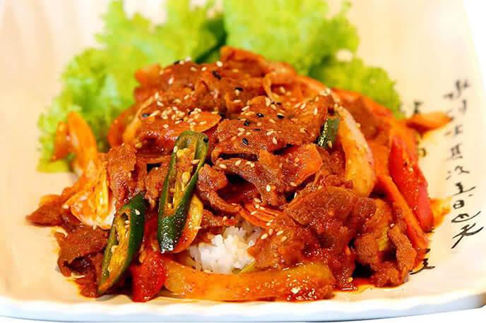Món ăn đậm chất xứ Hàn của quán