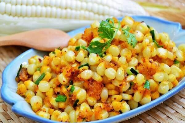 Bắp tách hạt được chế biến khá nhiều món ngon