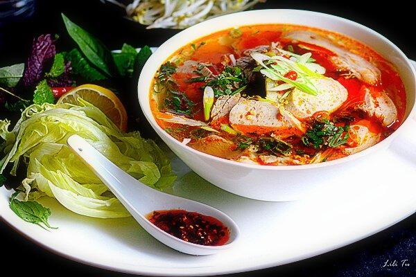 Bún bò originated in Huế, a former capital of Vietnam.