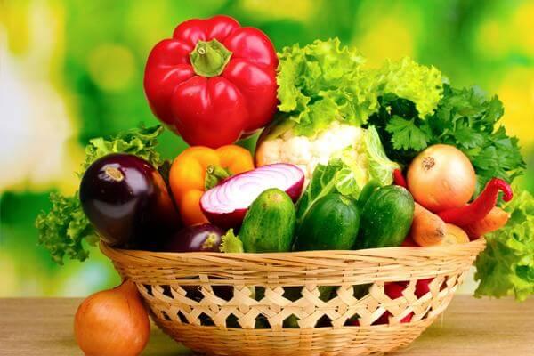 Rau quả giúp cho cơ thể không bị nóng