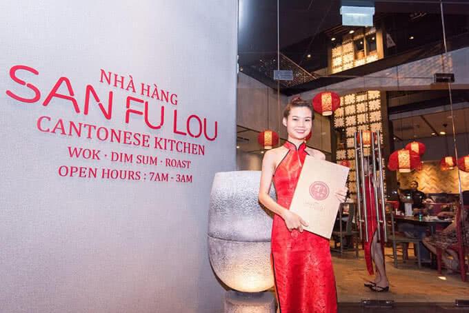 Nhà hàng là nơi thưởng thức những món ăn đặc sắc của ẩm thực Quảng Đông