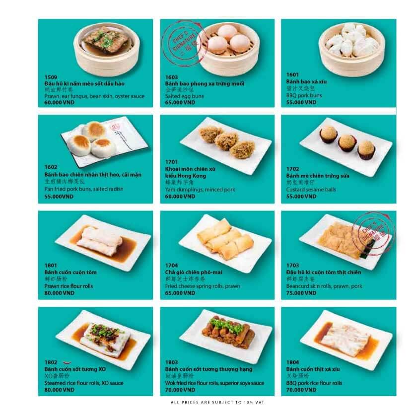 Thực đơn các món ăn đậm chất trung hoa tại San Fu Lou 2