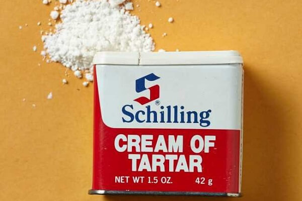 Cream of tartar (Potassium bitartrate/potassium hydrogen tartrate)