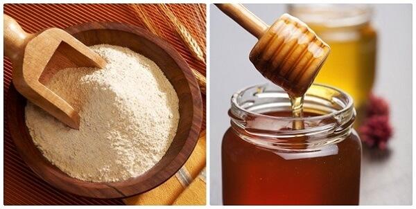 Mặt nạ bột gạo và mật ong