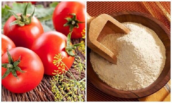 Mặt nạ bột gạo và cà chua