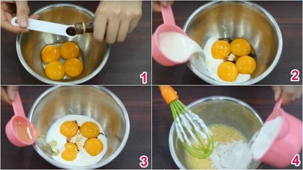 Trộn lòng đỏ trứng