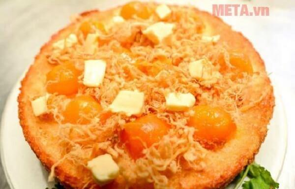 Bánh bông lan trứng muối làm với nồi cơm điện sẽ ngon không kém ngoài hàng
