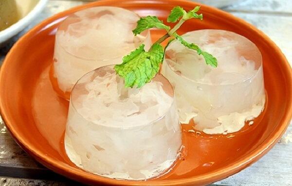 Thạch rau câu dừa trái cây