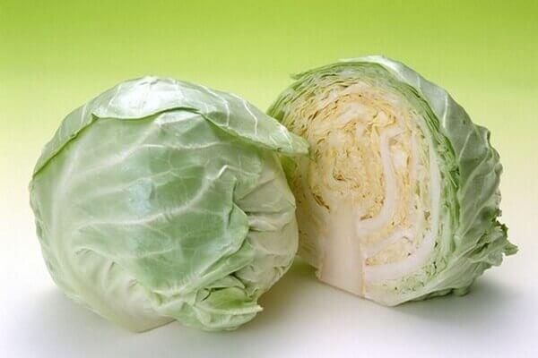 Bắp cải trắng: 1/2 bắp