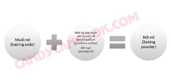 Quan hệ giữa bột nổi (baking powder) và muối nở (baking soda)