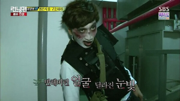 Lee Kwang Soo với tạo hình zombie ấn tượng