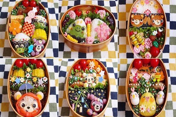 Những hộp cơm Bento lạ mắt, đầy màu sắc
