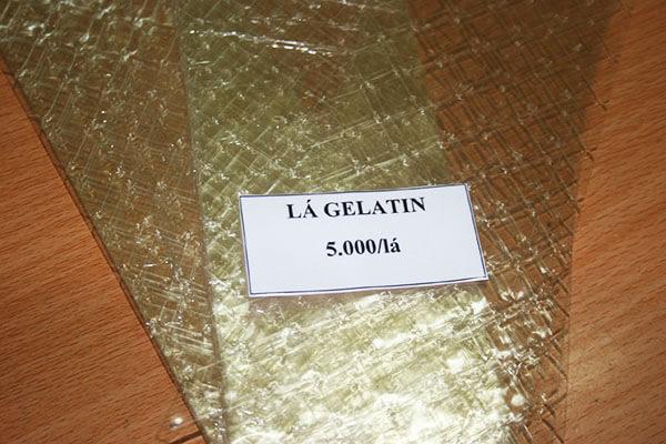 Cách sử dụng lá Gelatin