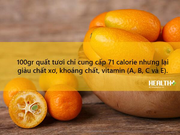 Quả quất cũng chứa nhiều vitamin C