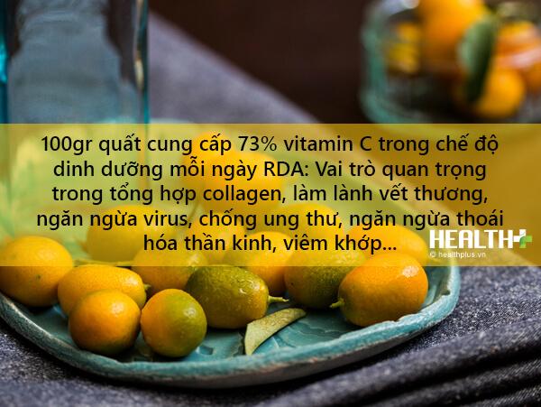 Trong quất có khá nhiều vitamin cần thiết