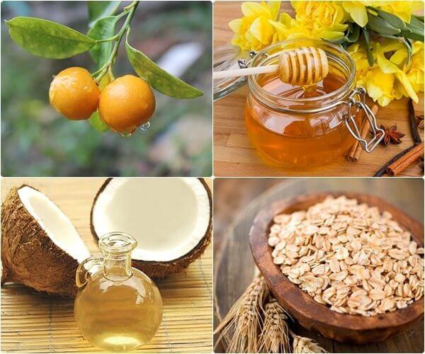 Mặt nạ quả quất, mật ong và dầu dừa