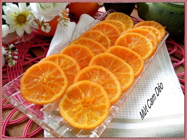 Mứt cam chứa nhiều vitamin cần thiết