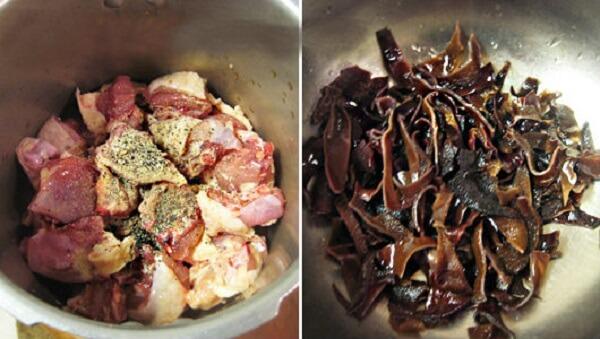 Thái mộc nhĩ - Cách làm thịt nấu đông theo truyền thống với mộc nhĩ