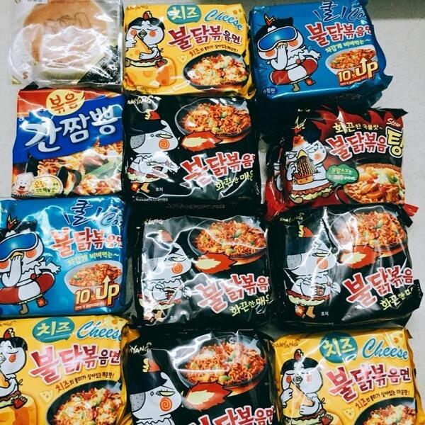 Các loại mì cay Samyang Hàn Quốc dạng gói