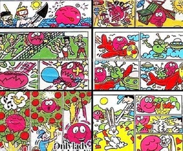 Không chỉ mê kẹo, những đứa trẻ còn tít mắt bởi những tấm hình ngộ nghĩnh có trong Big Babol.