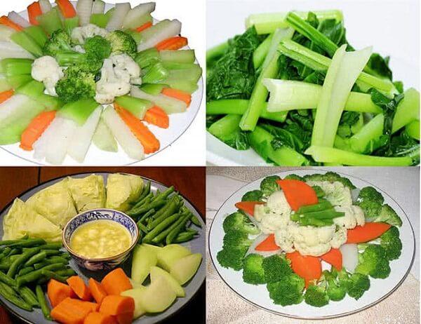 Rau luộc cũng sẽ là món được nhiều người lựa chọn trong mâm cơm ngày Tết.