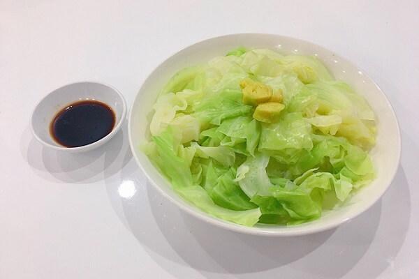 Món rau bắp cải luộc (35k)